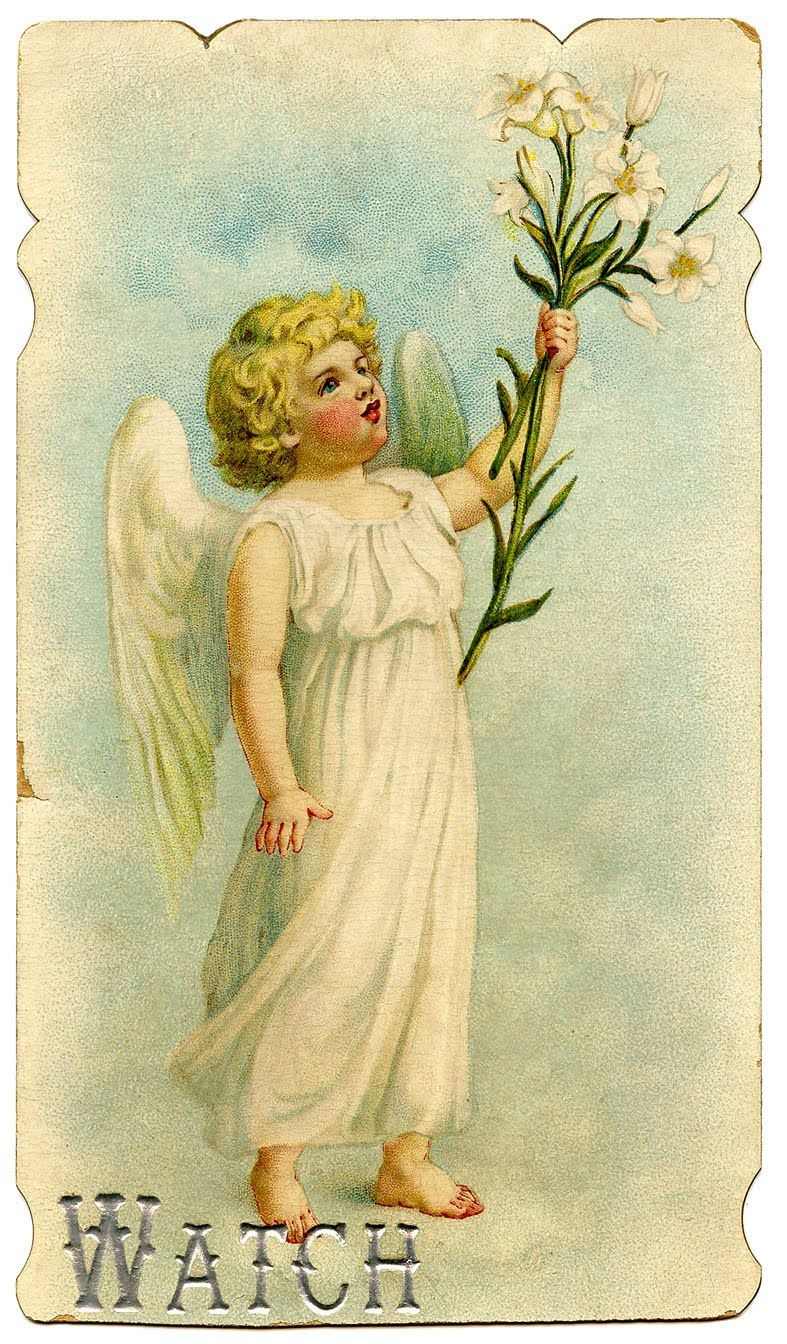 Easter angel vintage image--graphicsfairy001b